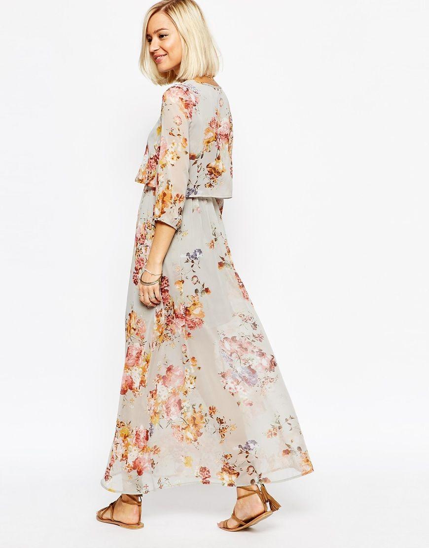 Vero Moda Floral Boho Maxi Dress At Asos Com Boho Floral Maxi Dress Boho Maxi Dress Vintage Maxi Dress