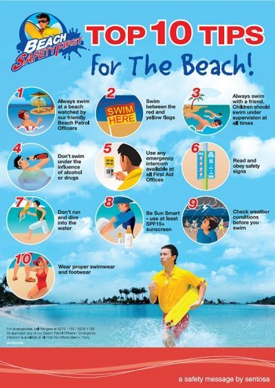 Summer activities a day at the beach beach and activities for Swimming pool health and safety rules