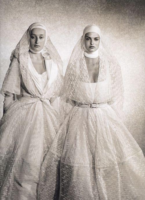 Marie-Sophie Wilson & Linda Evangelista, early 90s