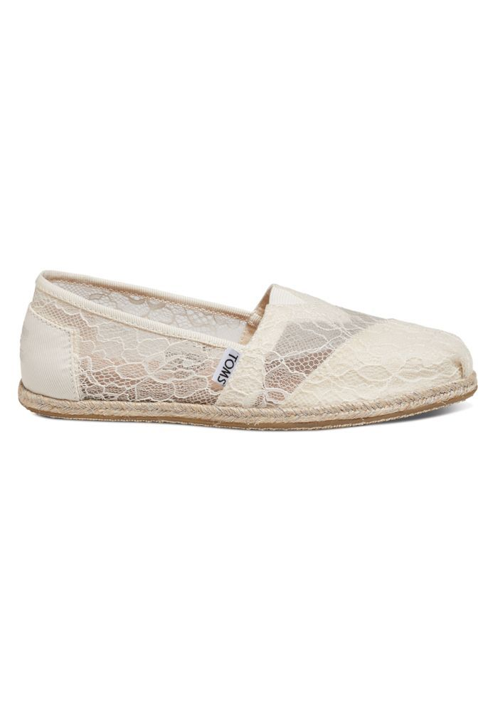 Toms Lace Rope Classic Slip On Shoe David S Bridal Women S Espadrilles Slip On Shoes Espadrille Shoes