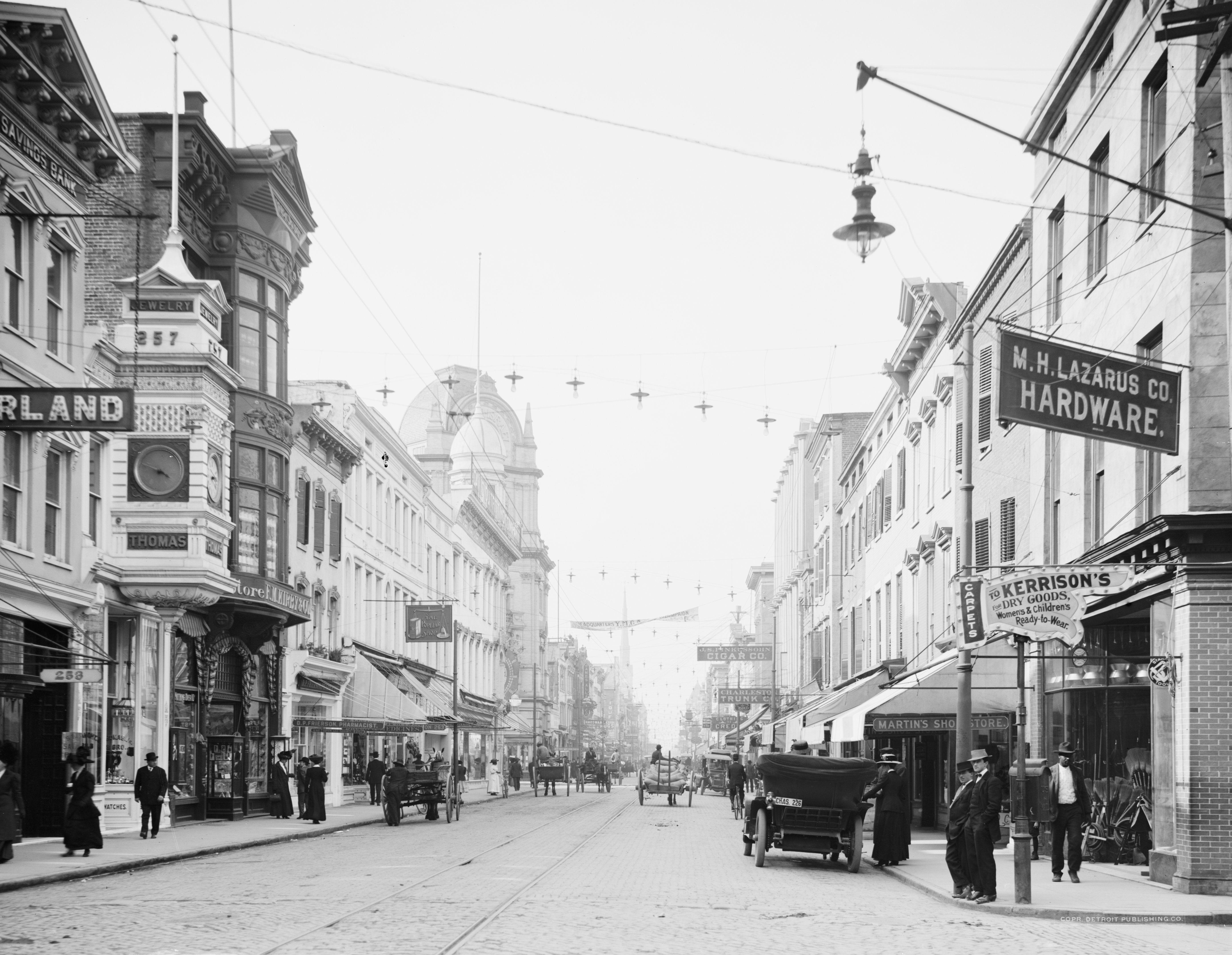 King Street Circa 1910 1920 Charleston History