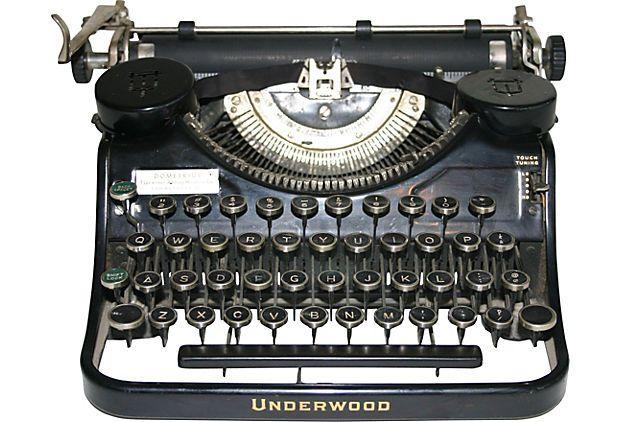 Black Underwood Typewriter  USA  ($425.00)   $239.00