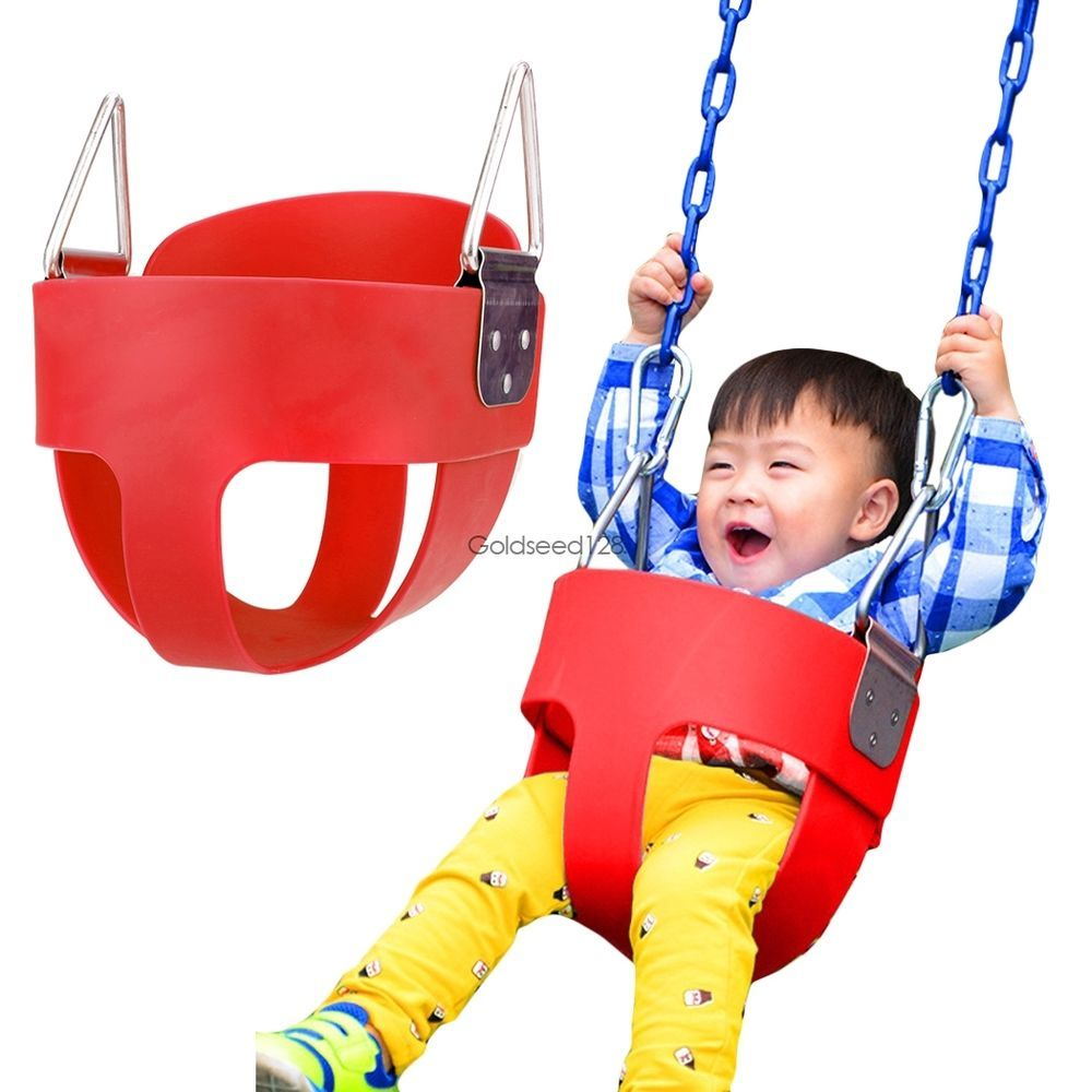 Kids Full Safe Bucket Swing Toddler Outdoor Baby Infant Playground