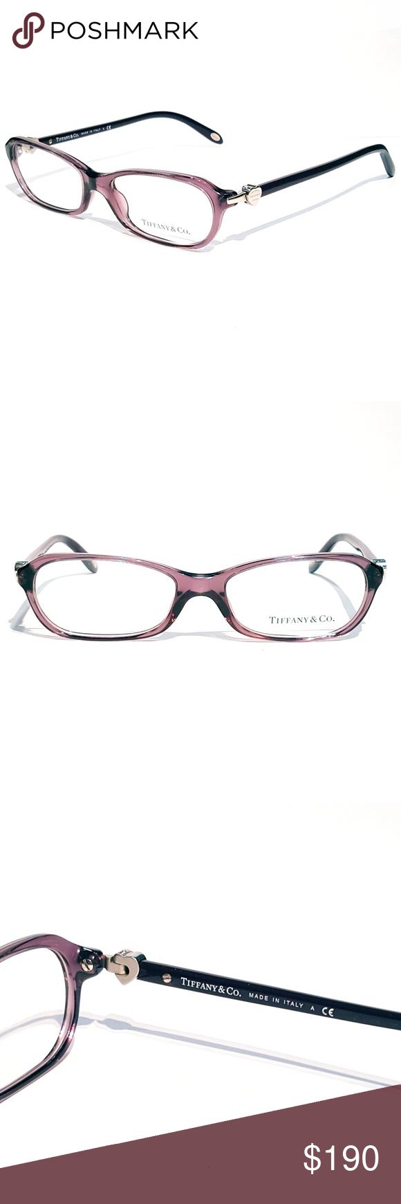 Tiffany & Co. Purple Eyeglasses | Frame sizes, Originals and Accessories