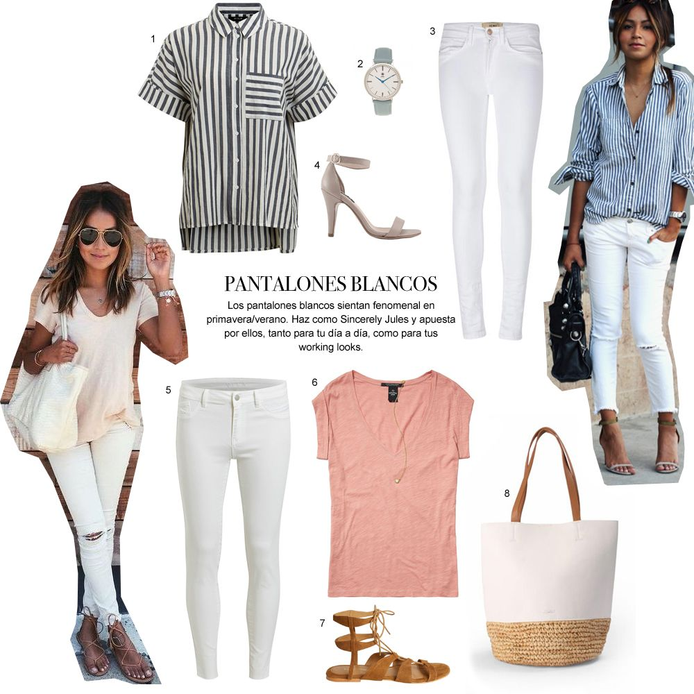 Prendas comodin  pantalones blancos Tiendas De Moda Online d037d82ae0ed
