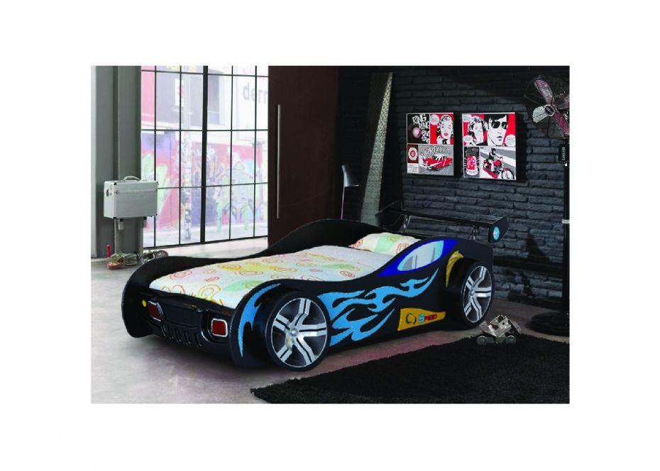 Turbo Childrens Boys Novelty Black Racing Car Bed Click To Buy Tempat Tidur Anak Anak