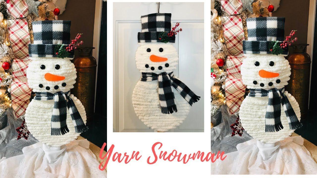 Dollar Tree Fuzzy Snowman Decoration Wreath DIY YouTube