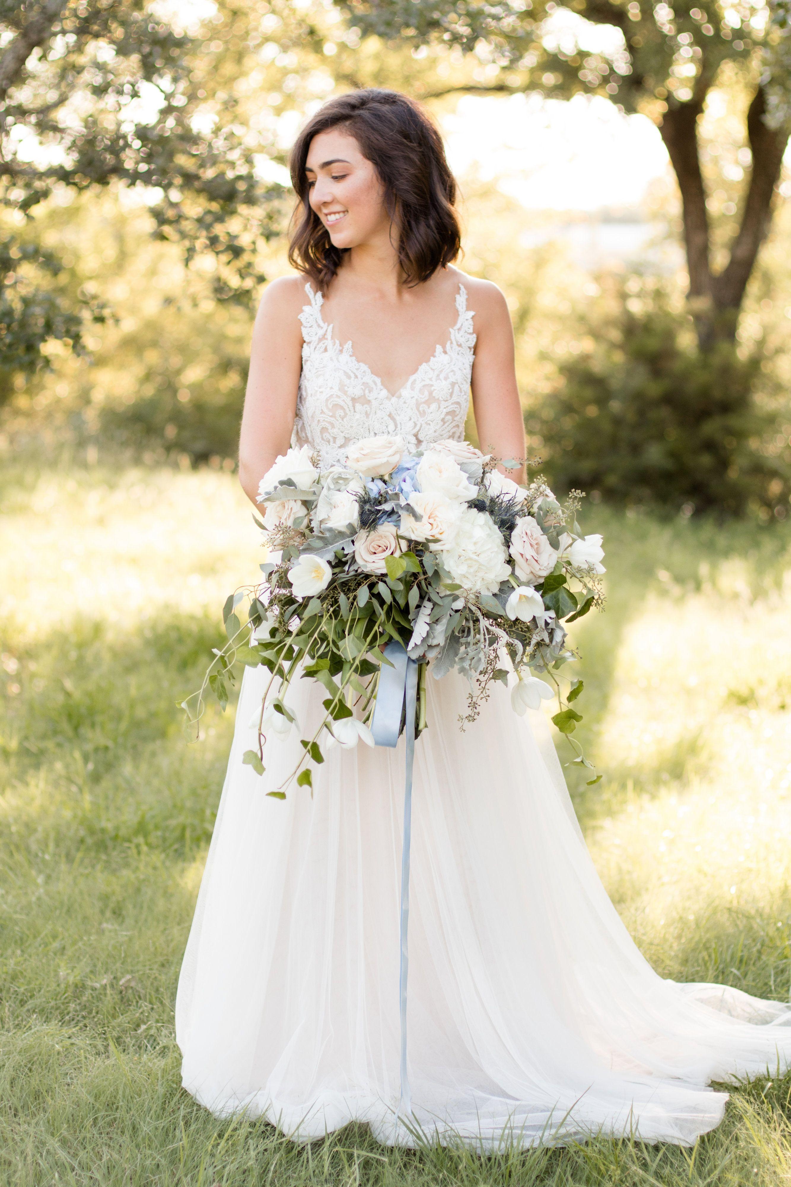 Bridal Portraits Lace Dress Wedding Dress Lush Oversized Garden