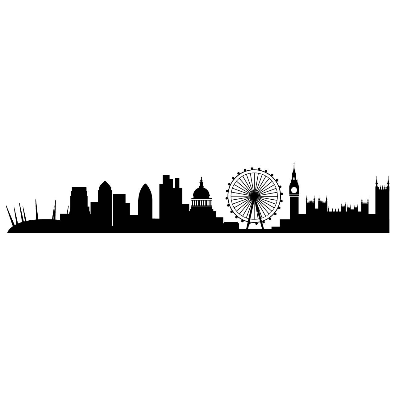 Line Drawing Tattoos London : London skyline sticker gus pinterest