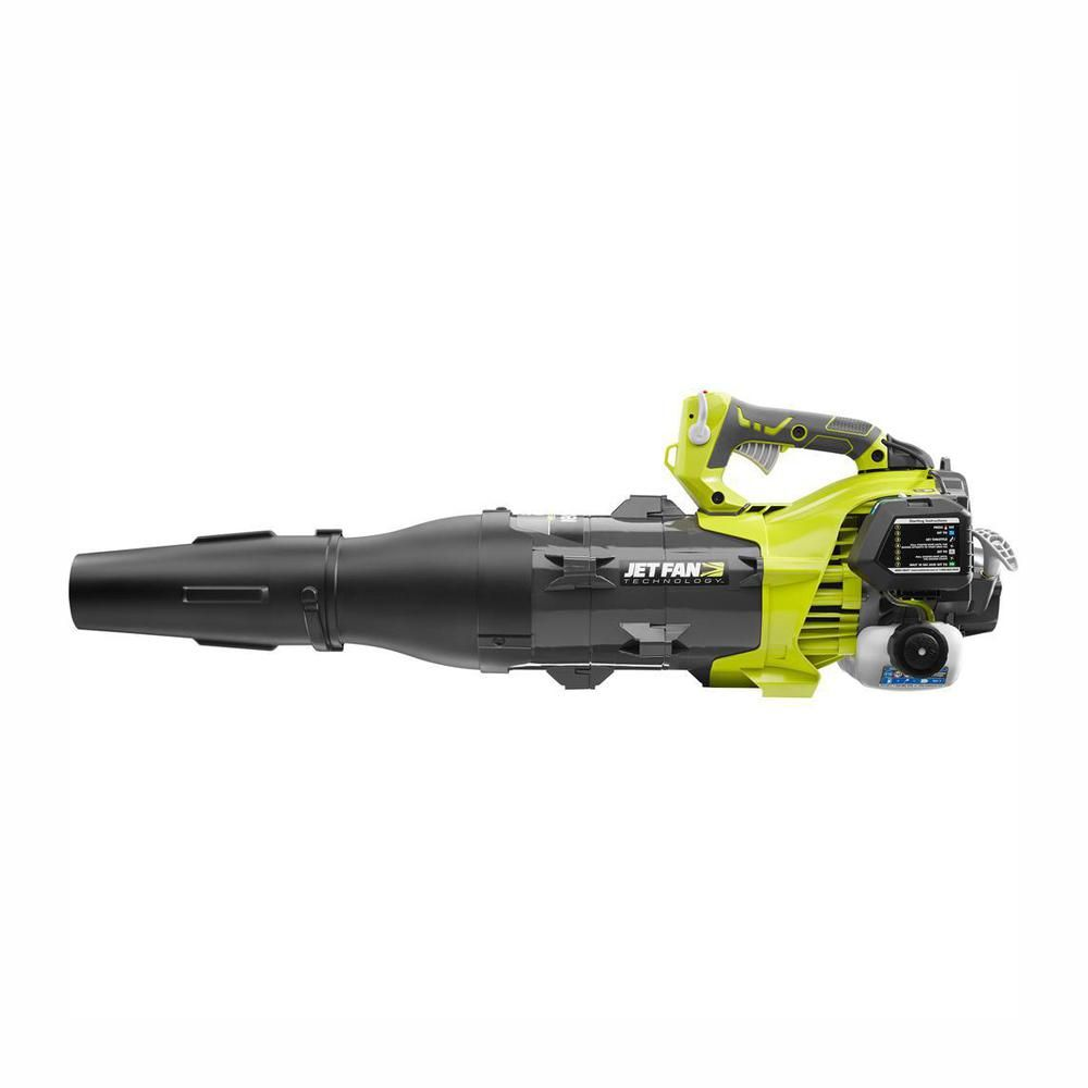 The Ryobi 2 Cycle Jet Fan Blower Is The Most Powerful Gas Handheld Blower Period Producing 520 Cfm At 160 Mph This Blower Delivers Bac Jet Fan Ryobi Blowers