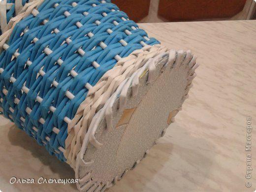 Бумажные трубочки ситцевое плетение