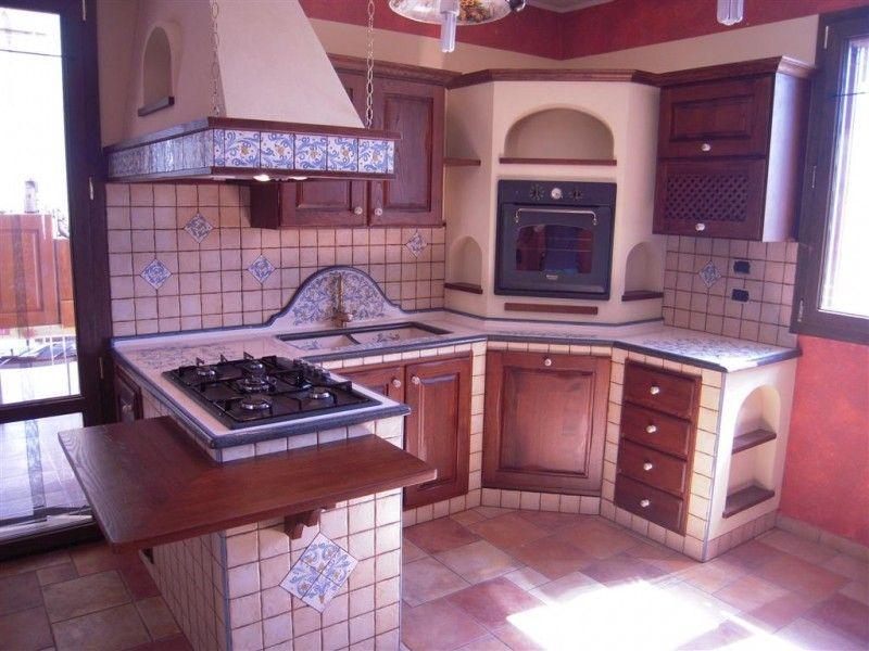 cucina in muratura ad angolo piccola