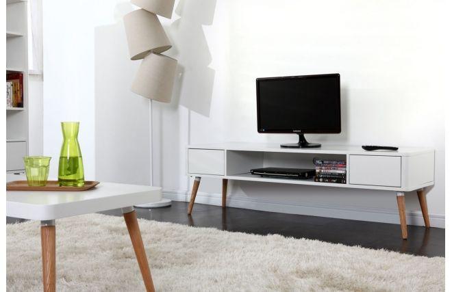 meuble tv design scandinave totem gauche - Meuble Tv Scandinave Totem