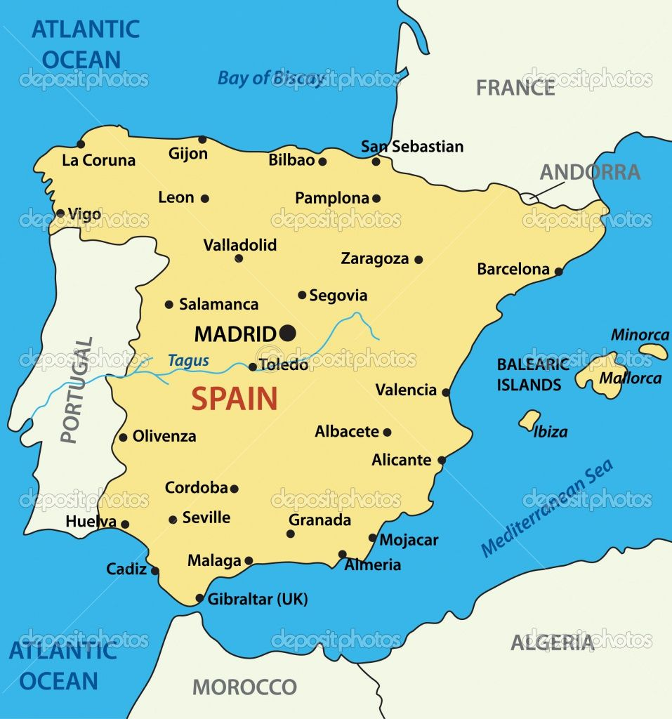 The Map Of Spain La Herradura Is Located On The South Coast Of - Where is spain located