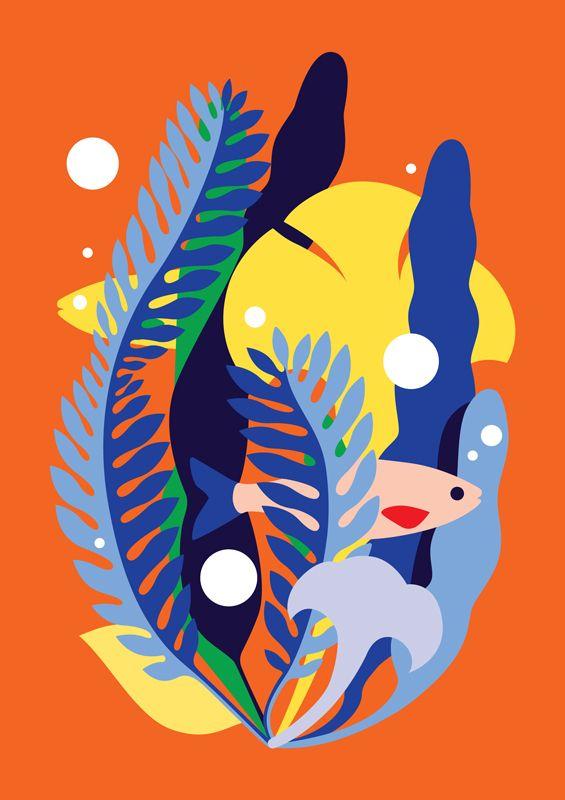 """다음 @Behance 프로젝트 확인: """"Glug - Life Below Water"""" https://www.behance.net/gallery/34744939/Glug-Life-Below-Water"""