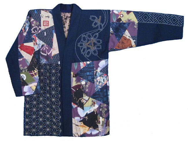 Patchwork and sashiko jacket | Upcycling inspirations | Pinterest ...
