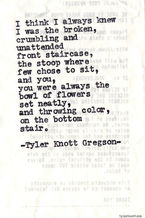 Typewriter Series #626byTyler Knott Gregson