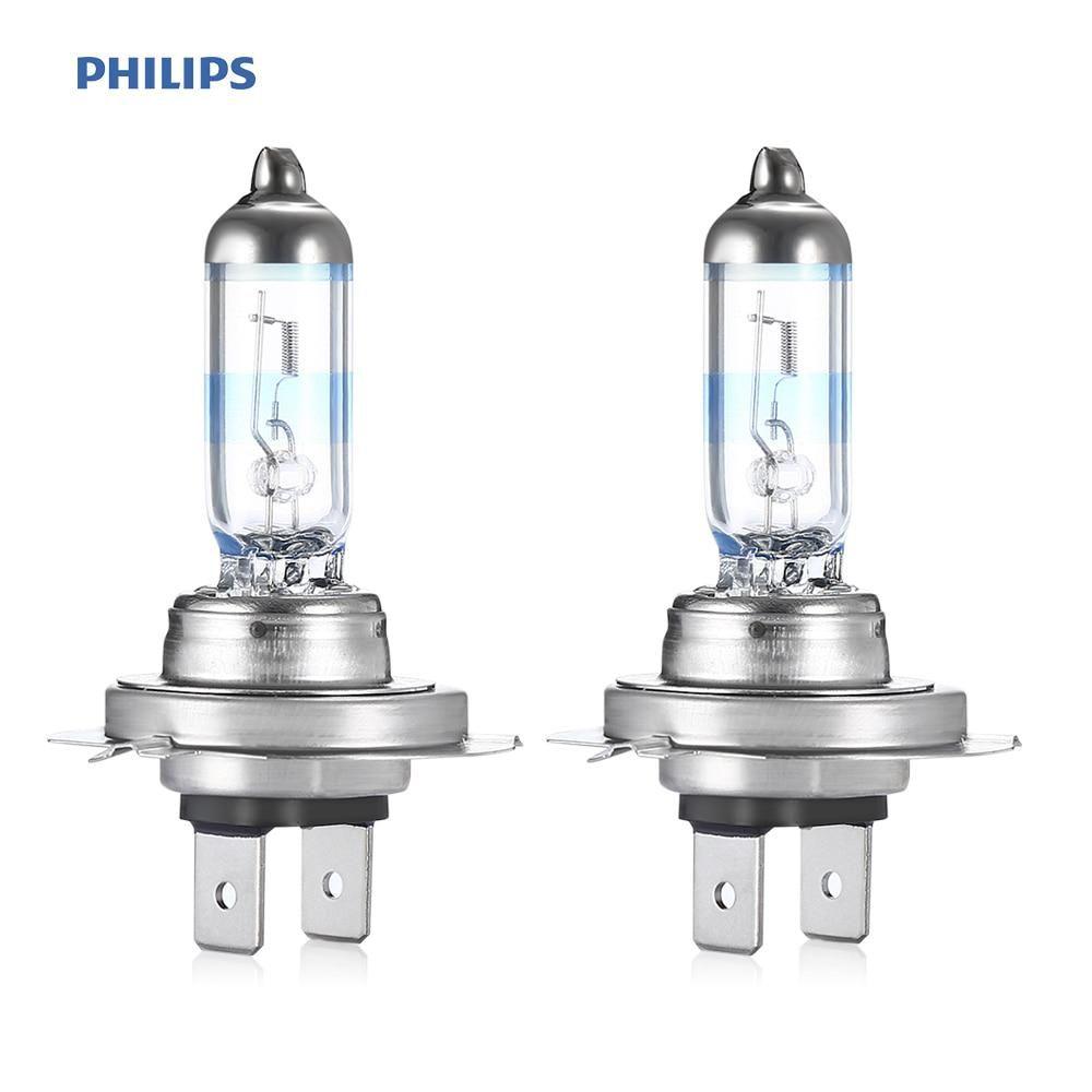 Philips Pair Of 12v 55w H7 Halogen Bulb Lamp 3700k Yellow Light