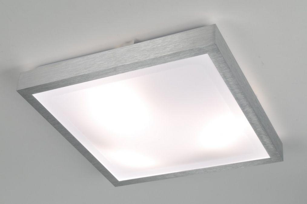 Lampara De Techo 70673 Moderno Aluminio Material Sintetico Blanco Lamparas Led Techo Lamparas De Techo Techo Led