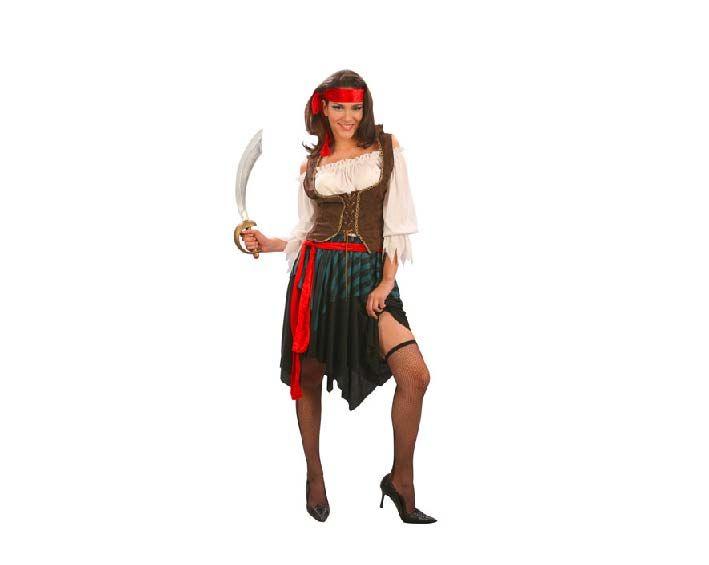 estoy enfermo Hacer bien cobertura disfraz de chica pirata c
