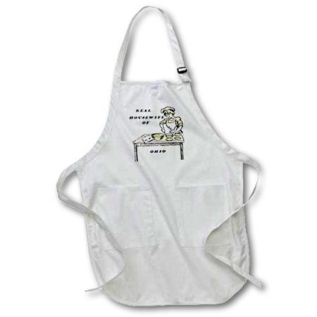 3dRose Real Housewife Of Ohio, Medium Length Apron, 22 by 24-inch, With Pouch Pockets