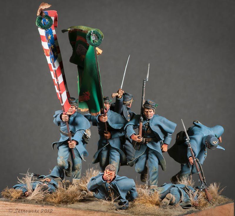 """Charge Of The Irish Brigade"" Fredericksburg 1862 by Doug"