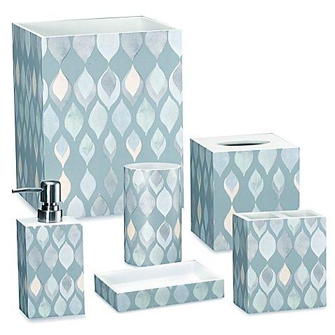 Shell Rummel Sea Glass Bath Ensemble Blue Bathroom Accessories