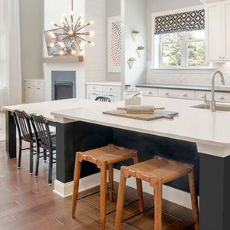 Long Kitchen Island Without Renovation In 2020 New Home Construction Kitchen With Long Island New Homes For Sale