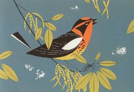 Blackburnian Warbler Serigraph — The Charley Harper Gallery - Outstanding Inventory!