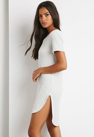 Ribbed Knit T-Shirt Dress | Forever 21 | #thelatest