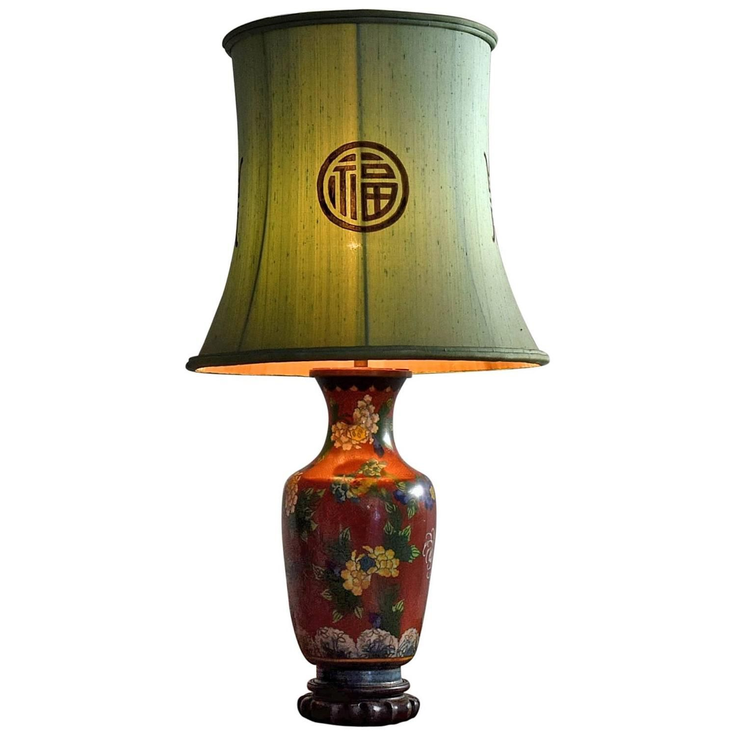 Mid century chinese ceramic cloisonn table lamp see more mid century chinese ceramic cloisonn table lamp see more antique and modern table lamps geotapseo Images