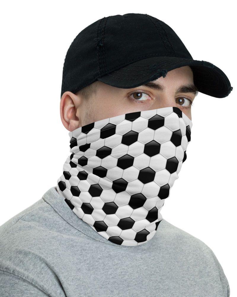 Soccer Ball Face Mask Neck Gaiter Designed By Squeaky Chimp Tshirts Leggings In 2020 Neck Gaiter Face Mask Soccer Ball