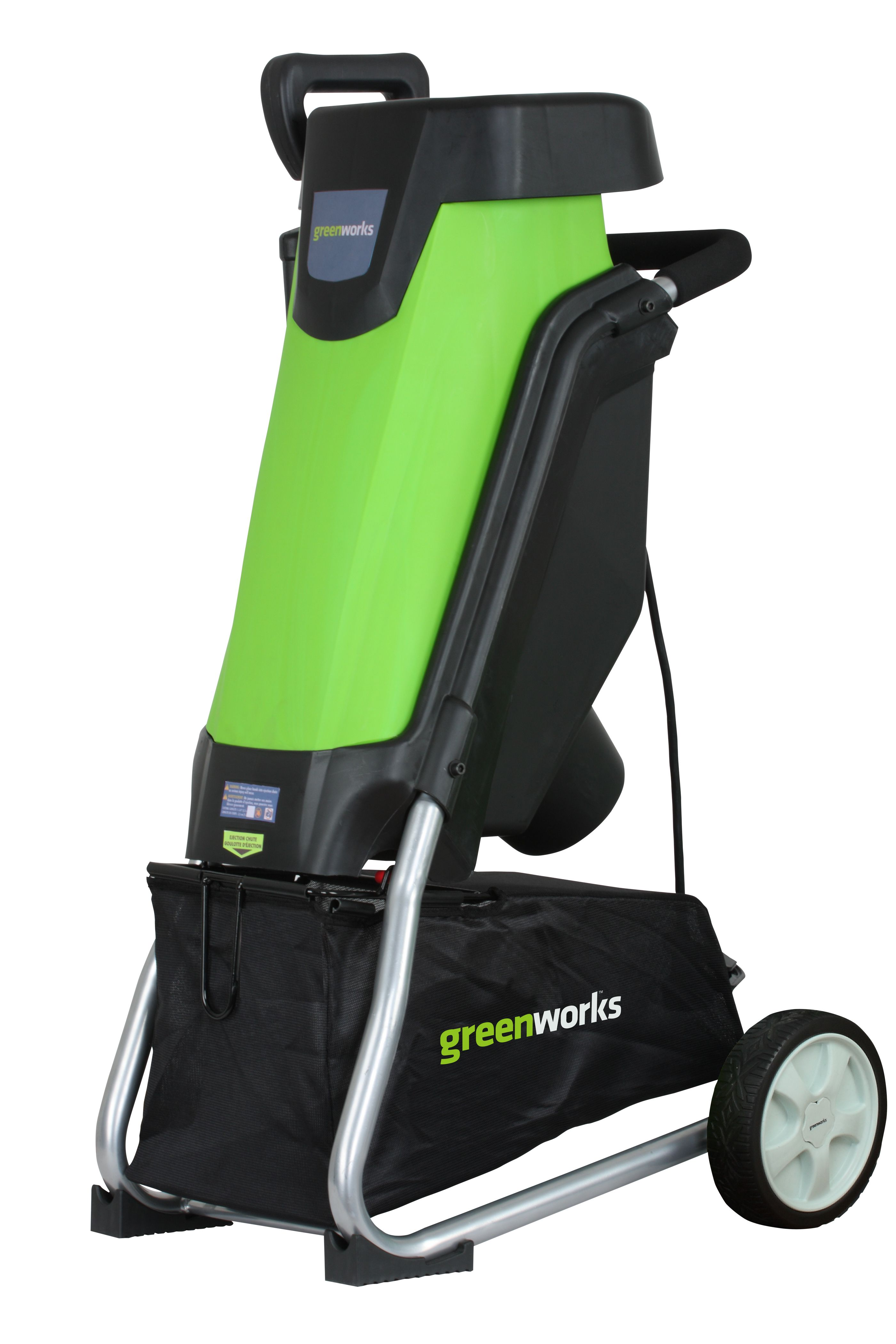 Greenworks wood chipper chippers