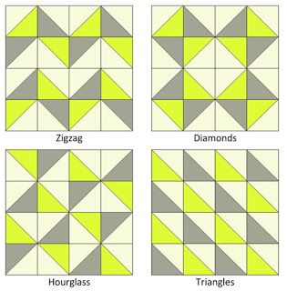 Greenwich Minus 8: Ode to Half Square Triangles (HST's): how to make half square triangles