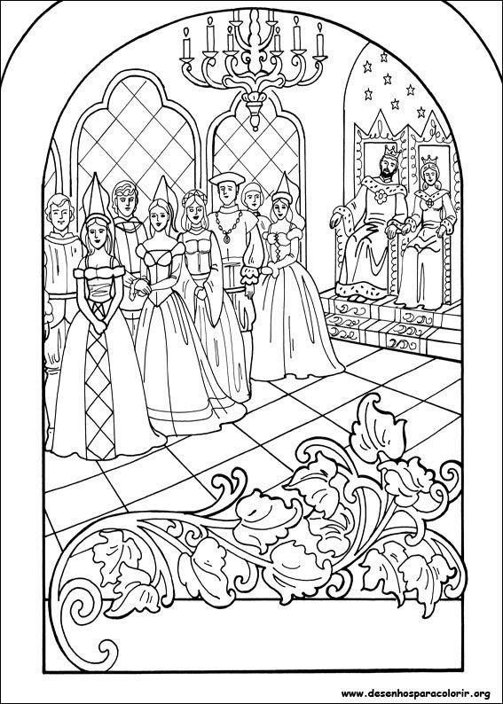 Desenhos Para Colorir Princesa Leonora Riscos Para