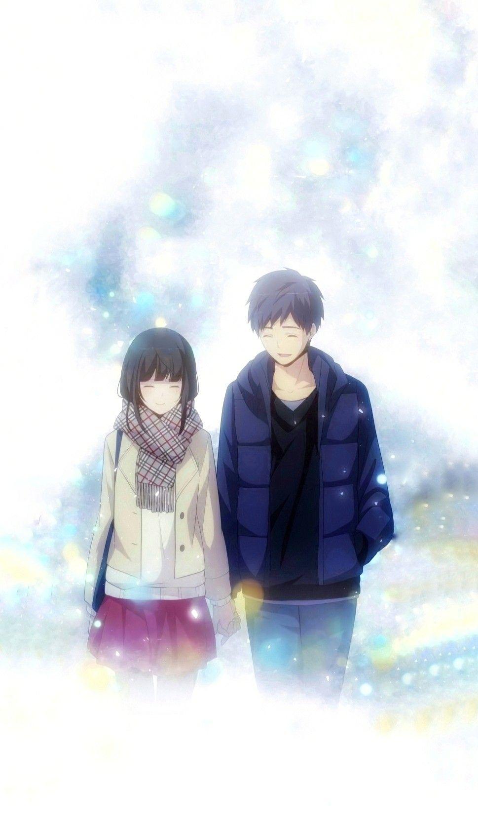 Arata Kaizaki Chizuru Hishiro Relife Seni Anime Seni Fotografi