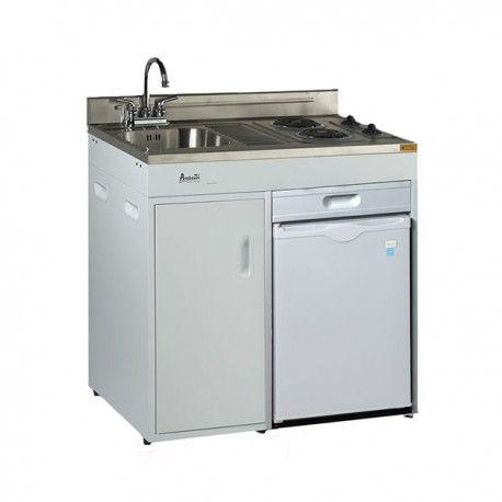 Avanti   Complete Compact Mini Kitchen With Refrigerator   White    Appliances Distribution