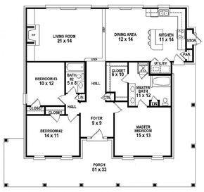 House plans one story farmhouse style