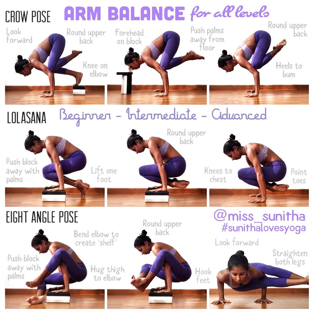 Arm Balance For All Levels Yoga Tutorials For Beginners Intermediates Video Available On Ig Miss Sunitha Easy Yoga Workouts How To Do Yoga Yoga Tutorial