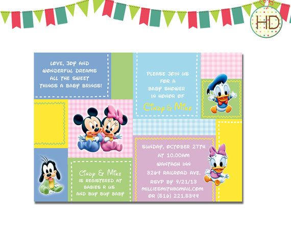 Disney Baby Shower Invitation Disney Castle Baby By HDInvitations, $12.00