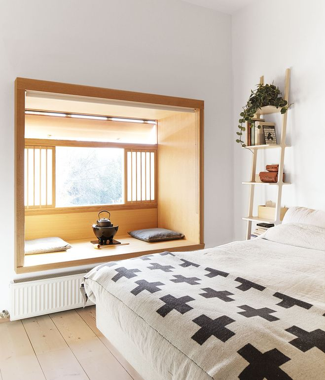 A Libri Wall Shelf By Michaël Bihain For Swedese Sits Next To A Koster Bed By Carpe Diem In The Master Bedroom Wh Bedroom Interior Home Bedroom House Interior