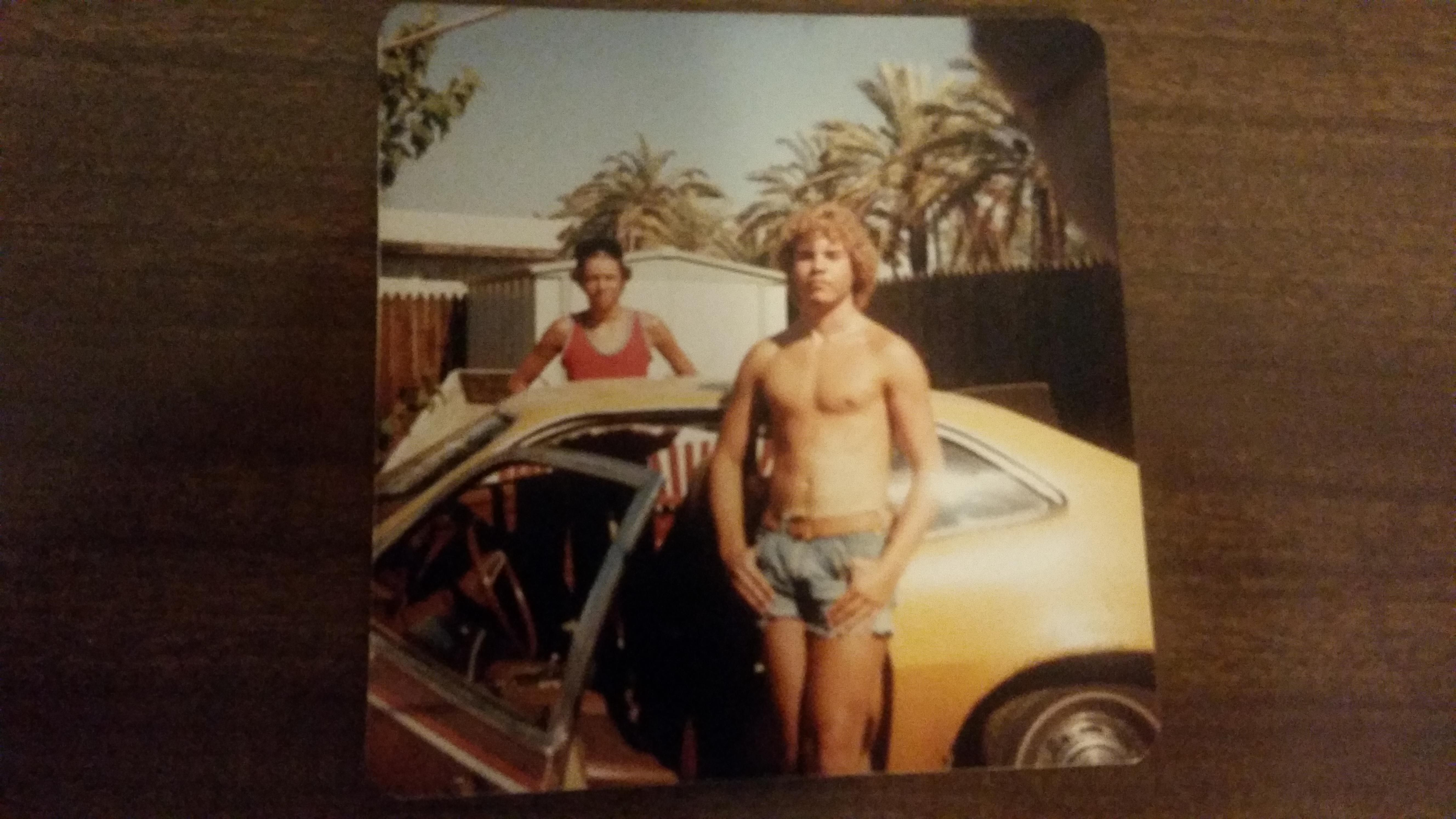 My dad and his Ford Pinto. c. 1979 Sorry for the garbage photo quality.