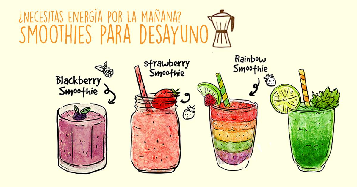 ¡Hola! Empezamos una nueva sección del blog sobre smoothies y empezamos con 3 smoothies para desayuno. ¡Empieza con fuerza tu día!