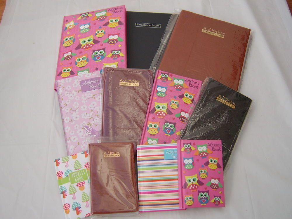 address book and telephone book a4 a5 a6 slim midi hardback padded