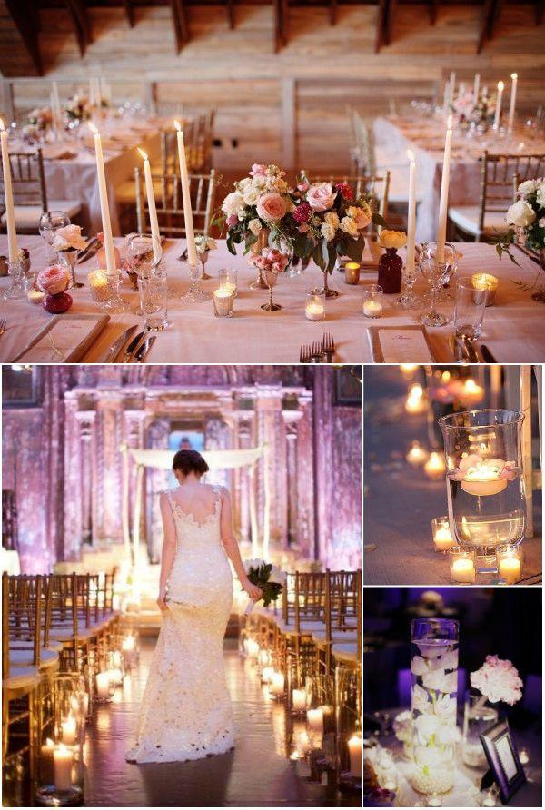 Rustic Elegant Candle Light Dinner Wedding Kerzen Hochzeit Elegant