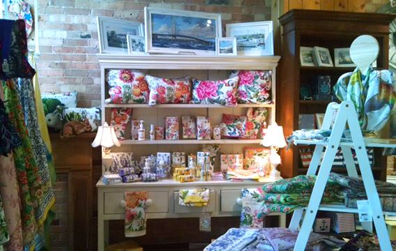 Grandpa Shorters has a beautiful display of our product. Love the armoire, and the wooden cutout on the right makes a great scarf display. #MDWgifts