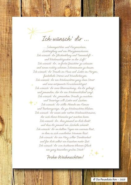 druck wandbild print weihnachtsw nsche gedicht von die pers nliche note auf. Black Bedroom Furniture Sets. Home Design Ideas