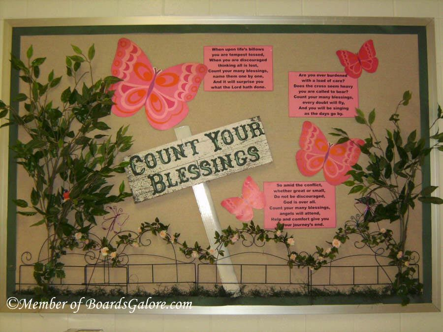 count your blessings bulletin board attendance chart idea rh pinterest com