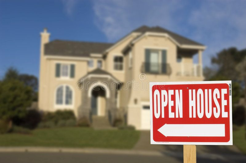 Open House Sign With Soft Focus House In Background Ad Sign House Open Background Focus Ad Open House Real Estate Open House Open House Signs