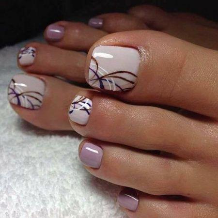 Фото френча на ногтях ног